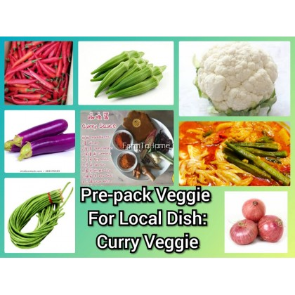 Pre-pack Veggie For Local Dish: Veggie Curry