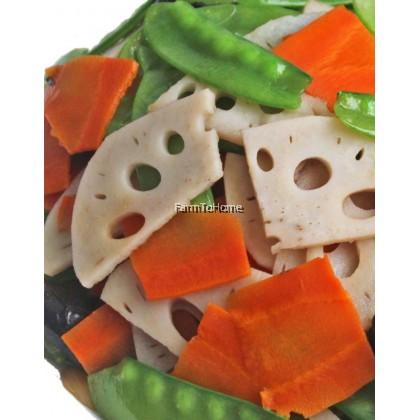 Pre-cut veggie pack: Stir Fried Lotus Root with Sweet Pea