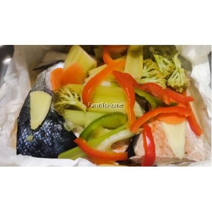 Salmon Steak & Mix Veggie Pre-pack Ingredients